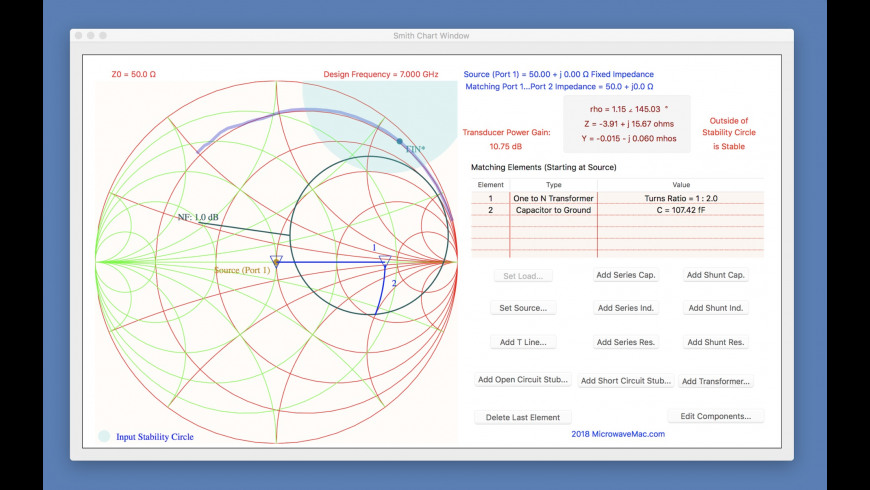 Smith Chart for Mac - review, screenshots