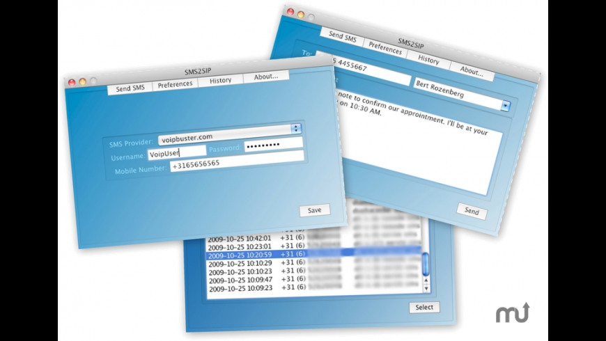 SMS2SIP for Mac - review, screenshots