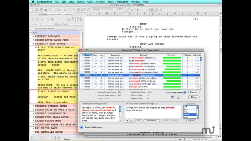 Screenwriter for Mac - review, screenshots