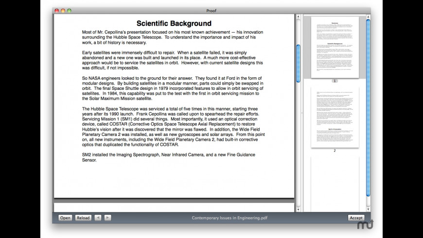Proof for Mac - review, screenshots