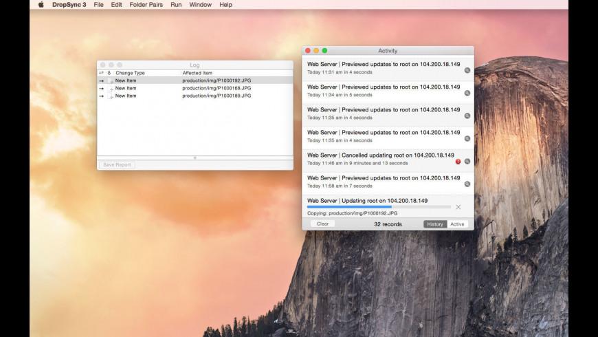DropSync for Mac - review, screenshots