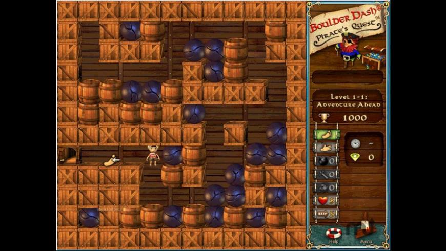Boulder Dash - Pirate's Quest for Mac - review, screenshots
