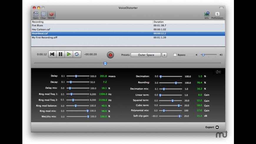 VoiceDistorter for Mac - review, screenshots