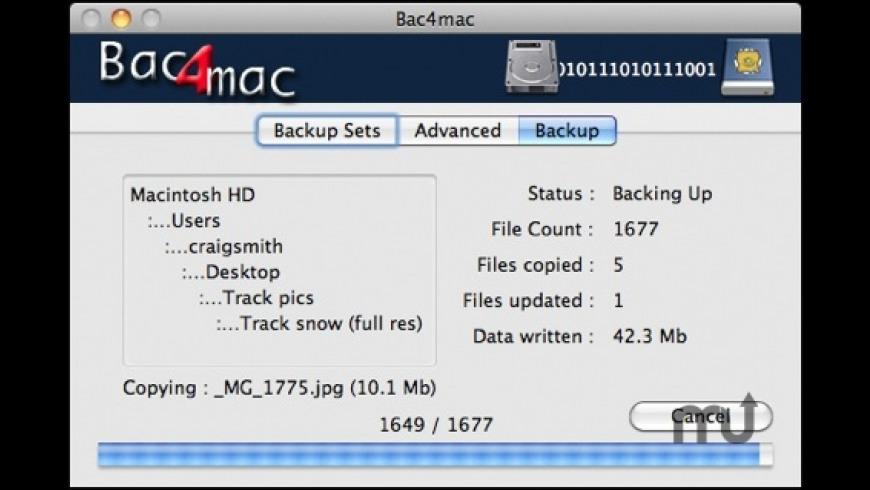 Bac4mac for Mac - review, screenshots
