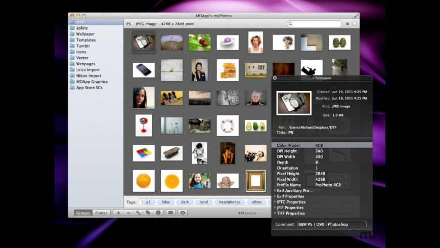 myPhotos for Mac - review, screenshots