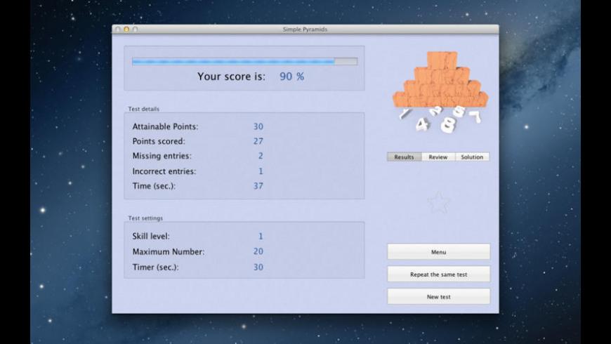 Simple Pyramids for Mac - review, screenshots