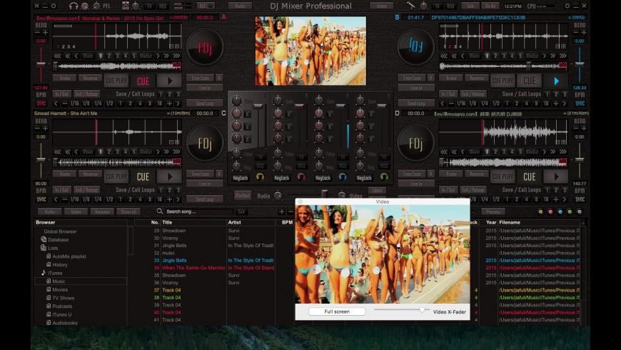 DJMixerPro for Mac - review, screenshots