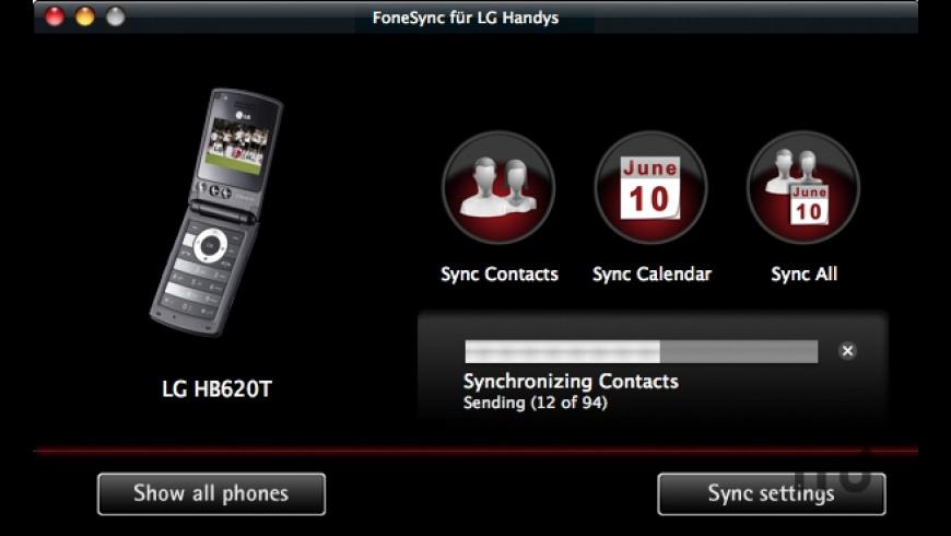 FoneSync for LG phones for Mac - review, screenshots