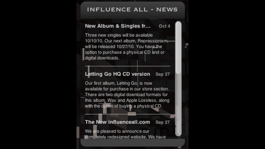 Influence All News Widget for Mac - review, screenshots