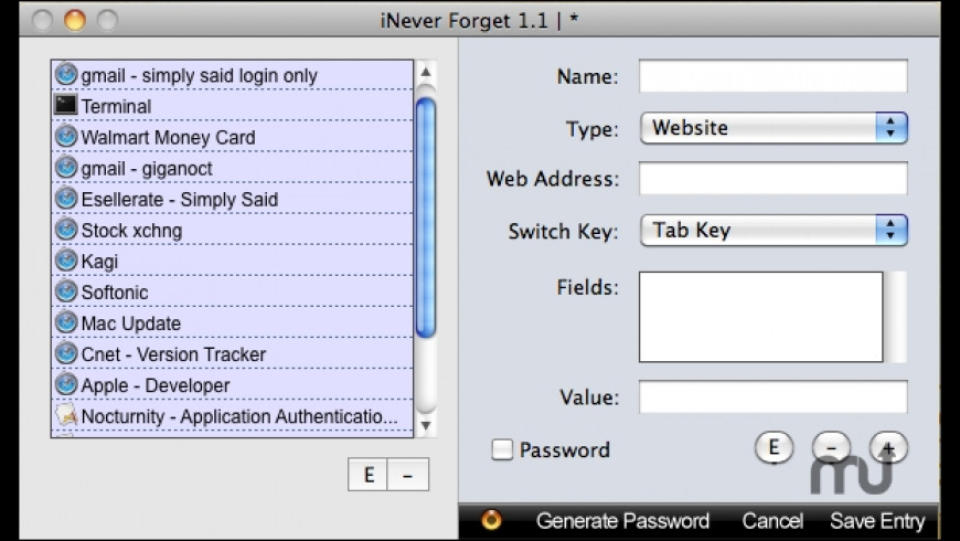 iNever Forget for Mac - review, screenshots