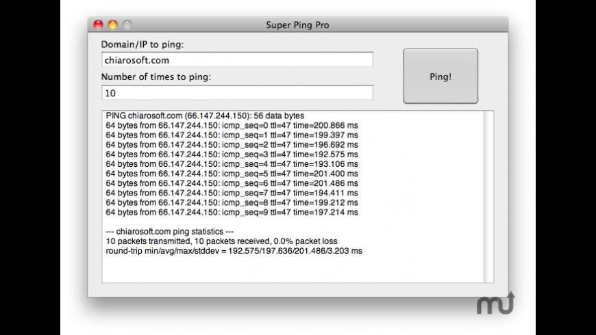 Super Ping Pro for Mac - review, screenshots