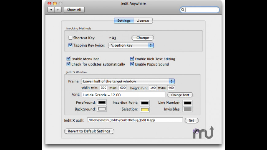 JeditAnywhere for Mac - review, screenshots