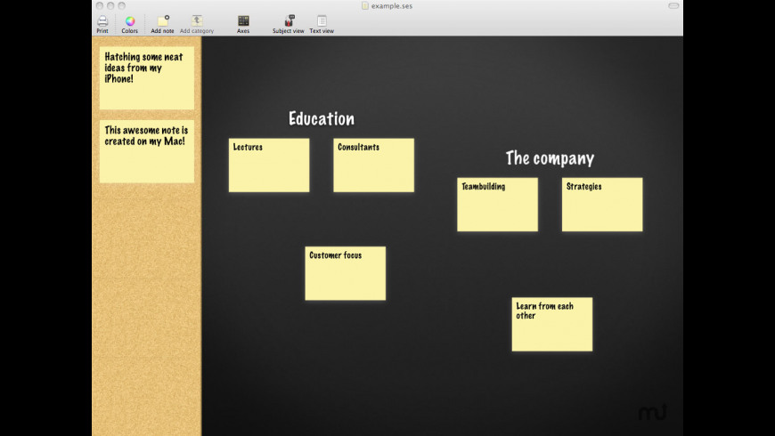 Sticky Brainstorming for Mac - review, screenshots