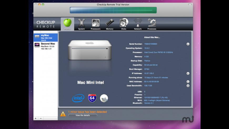 CheckUp Remote for Mac - review, screenshots