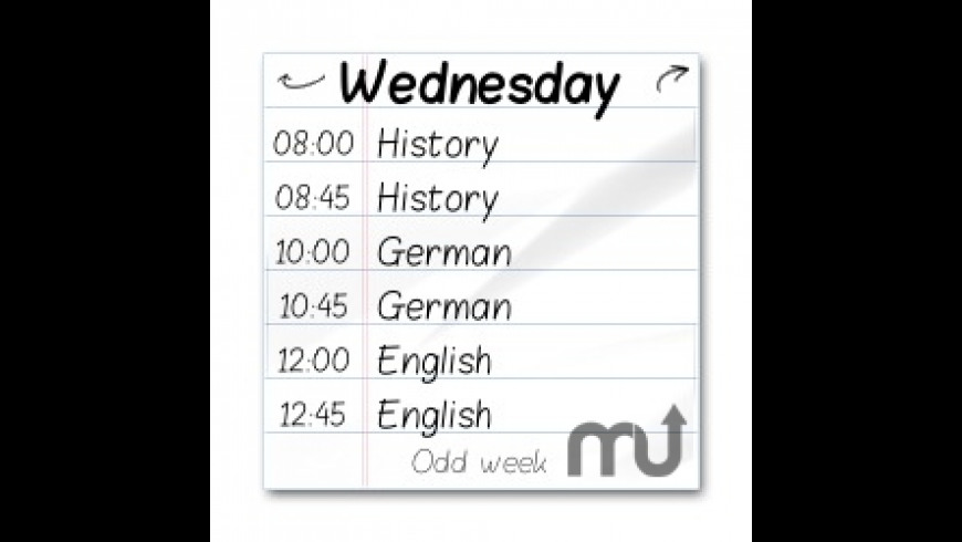Timetable for Mac - review, screenshots