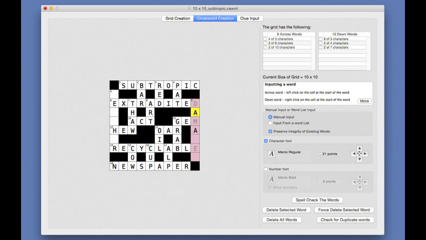 Superb Crossword Editor 1 8 2 Free Download For Mac Macupdate Home Interior And Landscaping Elinuenasavecom