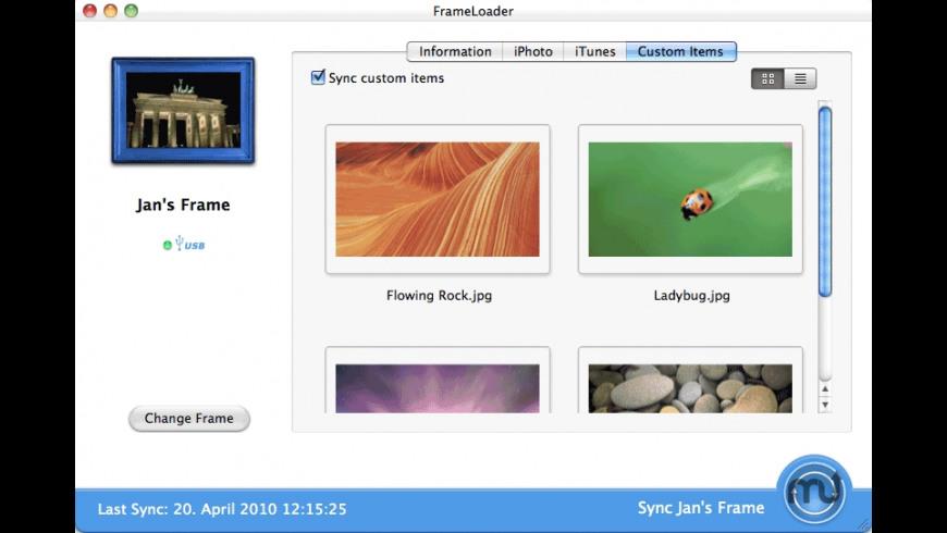 FrameLoader for Mac - review, screenshots