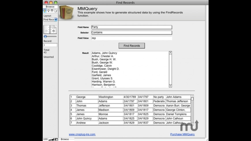 MMQuery for Mac - review, screenshots