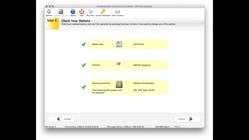 FILERECOVERY Professional for Mac - review, screenshots