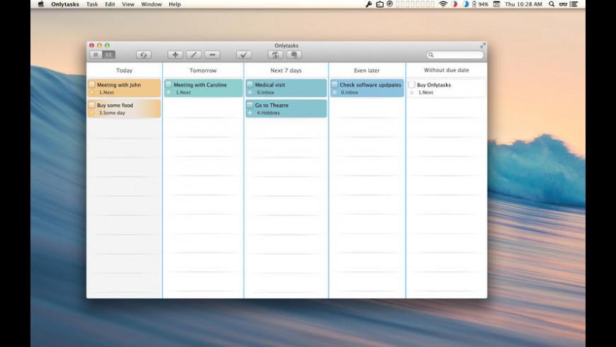 Onlytasks for Mac - review, screenshots