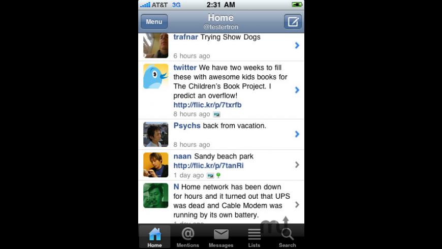 Echofon for Twitter for Mac - review, screenshots