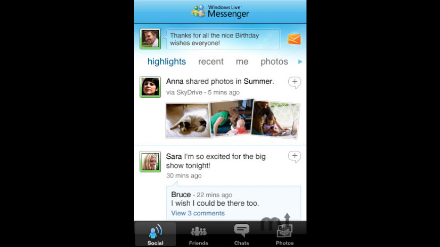 Windows Live Messenger for Mac - review, screenshots