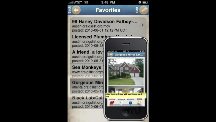 Craigslist Pro for iPhone/iPod 3 24 Free Download for Mac