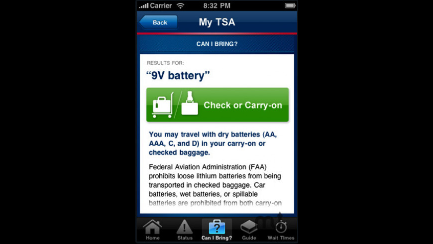 My TSA for Mac - review, screenshots