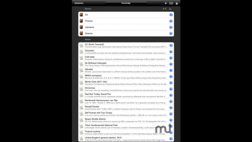Notebooks for iPad for Mac - review, screenshots