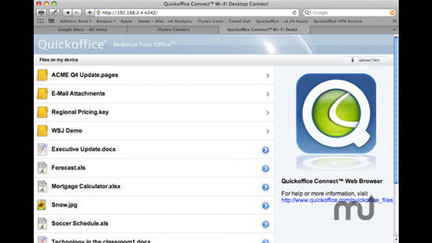 Quickoffice Connect for Mac - review, screenshots