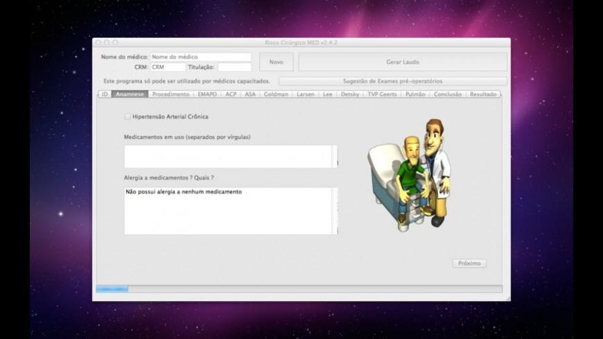Risco Cirurgico MED for Mac - review, screenshots