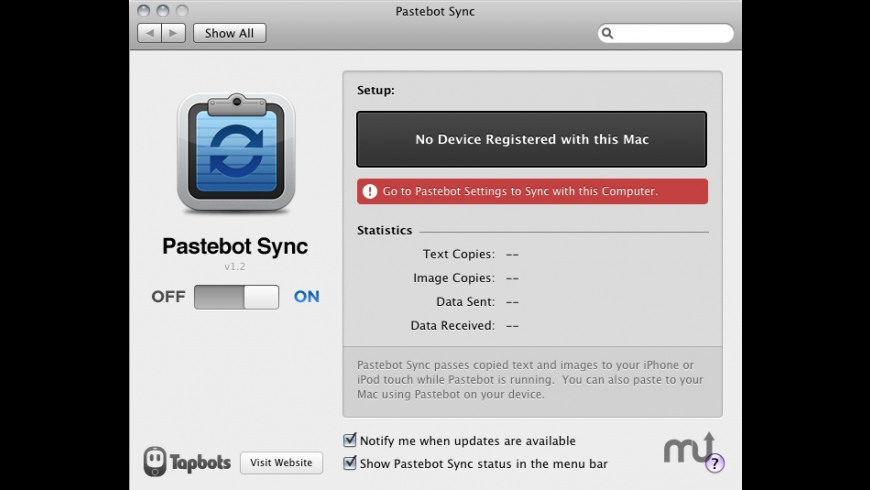 Pastebot Sync for Mac - review, screenshots