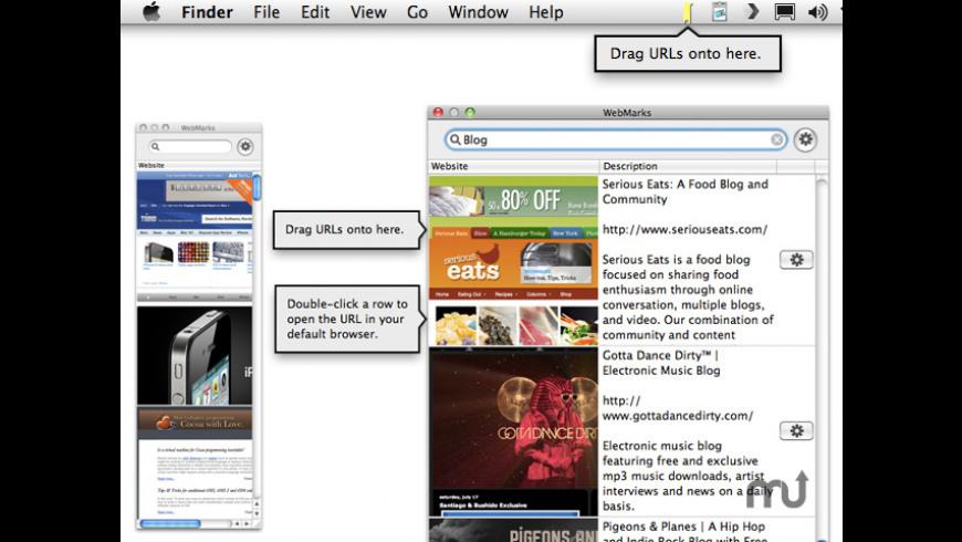 WebMarks for Mac - review, screenshots