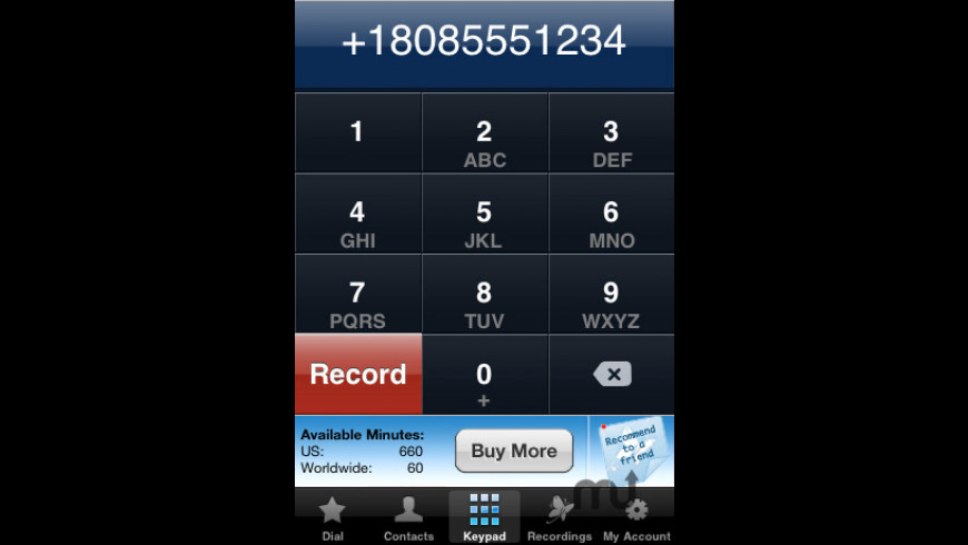CallRec.me for Mac - review, screenshots