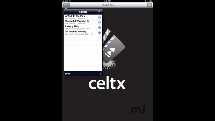 Celtx Script for Mac - review, screenshots