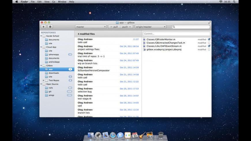 Gitbox for Mac - review, screenshots