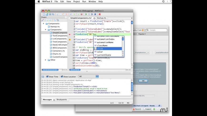 RIATest for Mac - review, screenshots