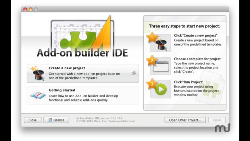 Addon Builder IDE for Mac - review, screenshots