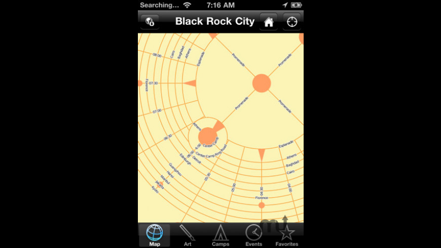 iBurn 2010 (Burning Man Map & Guide) for Mac - review, screenshots