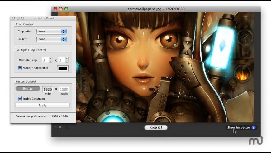 Kroper for Mac - review, screenshots