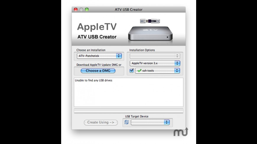 atvusb-creator for Mac - review, screenshots