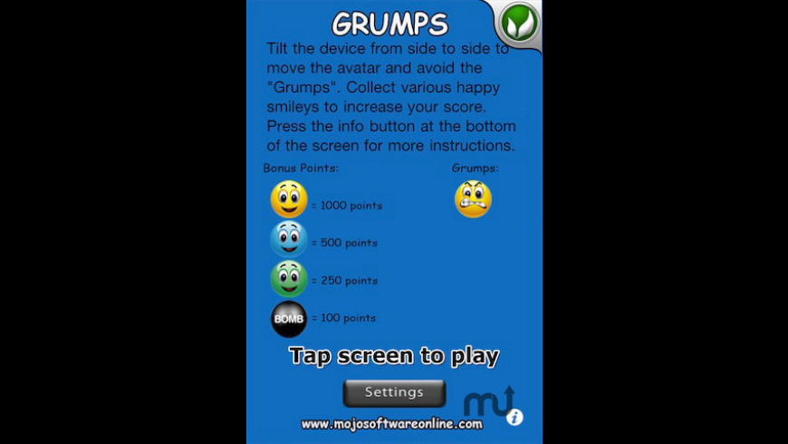 Grumps for Mac - review, screenshots