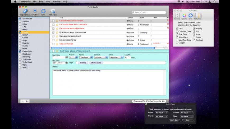 TaskSurfer for Mac - review, screenshots