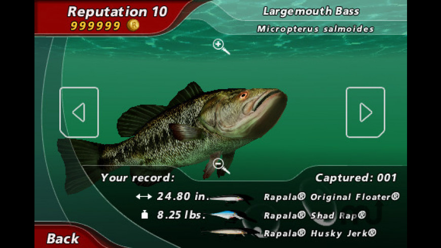 Rapala Pro Bass Fishing for Mac - review, screenshots