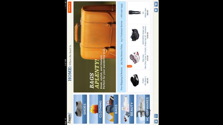 Zappos Mobile for Mac - review, screenshots