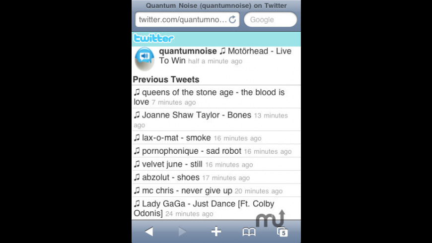 Tweet That Tune for Mac - review, screenshots