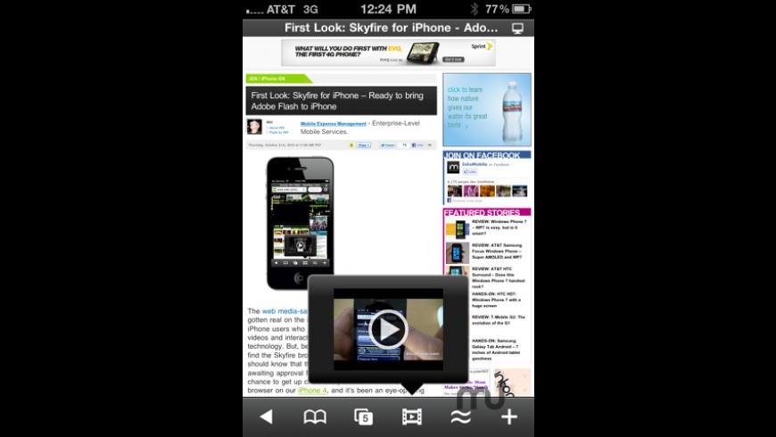 Skyfire Web Browser for Mac - review, screenshots