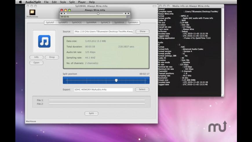 Audio2Split for Mac - review, screenshots