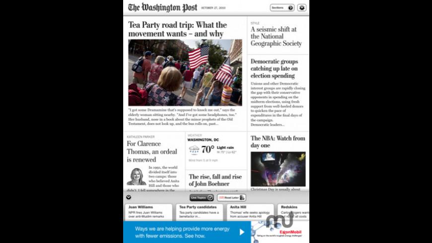 The Washington Post for iPad for Mac - review, screenshots