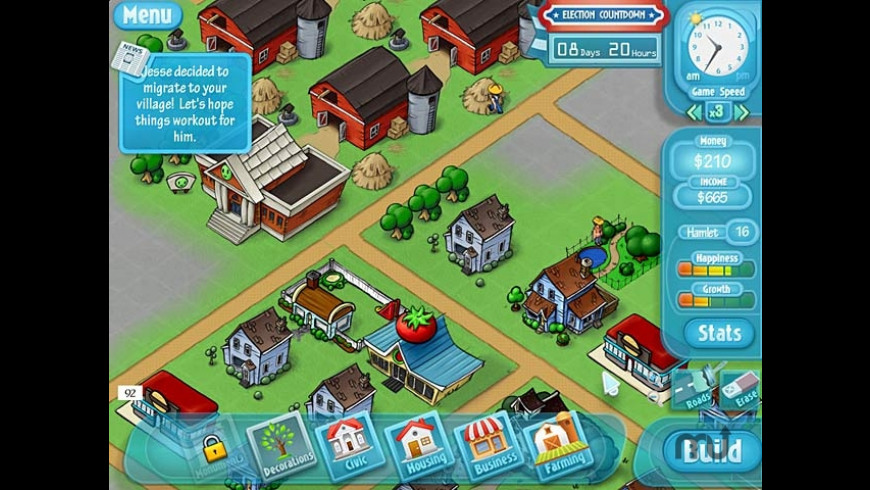 HappyVille: Quest for Utopia for Mac - review, screenshots